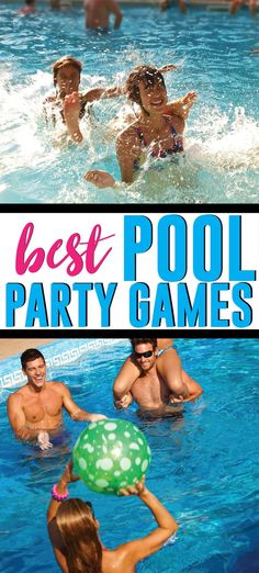 28 of the best pool games for teens, kids, or even for adults! - 28 of the best pool games for teens, kids, or even for adults! Fun swimming pool games you can play - Pool Games To Play, Swimming Pool Games, Pool Party Games, Pool Activities, Cool Swimming Pools, Best Swimming, Halloween Party Games, Cool Pools, Pool Fun
