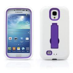 Amazon.com: MagicMobile Premium Hybrid Defender Case for Samsung Galaxy S4 w/ Kickstand White - Purple: Cell Phones & Accessories