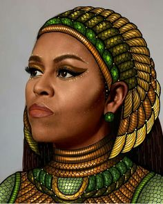 Chicago Artist Faces Backlash For Plagiarizing Black Artist's Portrait of Michelle Obama Art Black Love, Black Girl Art, My Black Is Beautiful, Black Girls Rock, Black Girl Magic, Beautiful Women, Amazing Women, Beautiful People, African Girl
