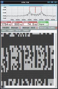 Krypto500 Synchronous FSK Decoder Visual Bits display
