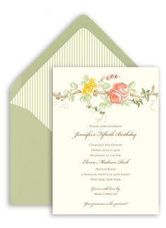 Rose Vine Invitations
