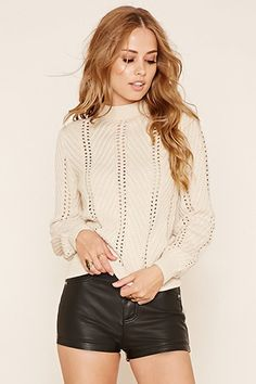 Mock Neck Sweater Top