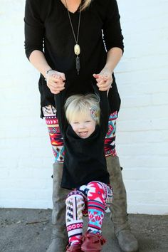 Surprise mom with this mommy and me matching leggings set this spring, this gorgeous and colorful tribal print will make the perfect gift. - Made out of rayon, nylon, and lycra - Handmade in the U.S.A