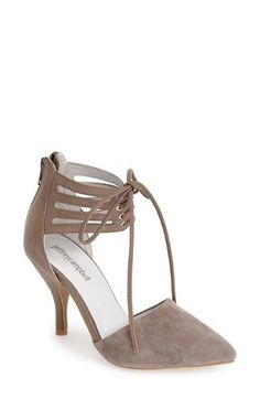 Jeffrey Campbell 'Picabo' Lace-Up Pump (Women) available at #Nordstrom