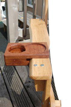 Adirondack Chair Cup Holder: Having made an Adirondack camping chair (see this instructable Adironda