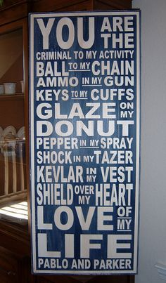 Extra Large You Are The Ammo In My Gun, Law Enforcement Typography Wood Sign, Subway Art Sign. Police Wife Life, Leo Love, Subway Art, Thin Blue Lines, My Guy, Ball Chain, Law Enforcement, Love Of My Life, Wood Signs