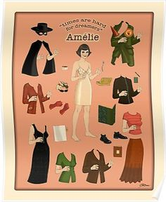 i finished my Amelie Doll Poster and i love her! The movie is so stylish. Amelie's style is a shortcut to her character so i really wanted to make some art inspired by the film. From her bobb… Amelie, Illustrations, Illustration Art, Destin, Canvas Prints, Art Prints, Paper Dolls, The Dreamers, Images