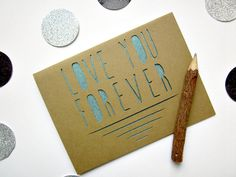 Love You Forever Paper Cut Greeting Card - Valentine. $6.00, via Etsy.
