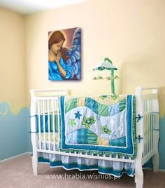 anioł sróż-guardian angel-child room-canvas-acryl-1
