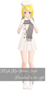 TDA Rin Winter Style Download [MMD] by Yuu2002.deviantart.com on @DeviantArt