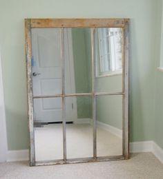 Rustic Six Panel Wood Mirror : EBTH
