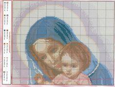 Gallery.ru / Фото #1 - 22 - lutarcik Cross Stitch Freebies, Cross Stitch Charts, Cross Stitch Patterns, Cross Stitching, Cross Stitch Embroidery, Cross Stitch Angels, Religious Cross, Christmas Cross, Filet Crochet