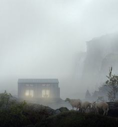 Mir is a small creative studio tucked in between mountains and fjords on the west coast of Norway. We make portraits of unbuilt architecture. Scandinavian Architecture, 3d Architecture, Architecture Visualization, Architecture Graphics, 3d Visualization, Architecture Illustrations, Exterior Rendering, Interior Exterior, 3d Rendering