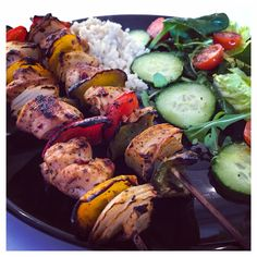 Chicken and Pepper grilled skewers ❤️