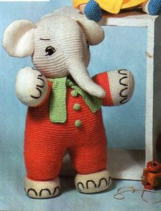 Elephant Pants Knitting Pattern : 1000+ images about Dolls Clothes , Toys , Novelty , Home Knitting Patterns / ...