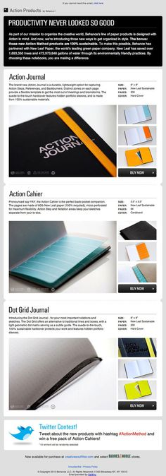 Behance Action Method product newsletter email design
