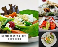 A Mediterranean diet consists mainly of fruits and vegetables, seafood, olive oil, hearty grains, and other foods that help fight against heart disease, certain cancers, diabetes, and cognitive decline.  #MediterraneanDietRecipeBook #MediterraneanDiet