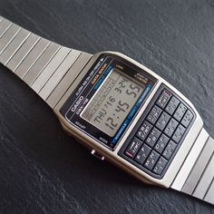 CASIO DBX-112 642 Vintage 1985 LCD Data Bank World Time Chrono Calculator Watch in Jewellery & Watches, Watches, Wristwatches   eBay