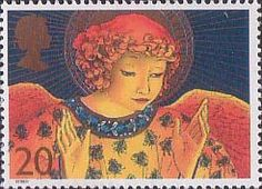 Christmas. Angels 20p Stamp (1998) Angel with Hands raised in Blessing