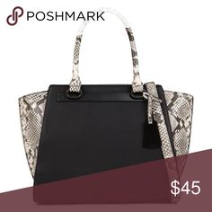 Snakeskin Two Tone Handbag Faux leather. Long strap included. Zipper pocket & cell phone pocket inside. Used twice. Like new condition. NO TRADES OR PAYPAL. *More photos & measurements to come* Bags Totes