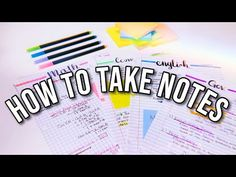 HOW I TAKE NOTES | Note-taking & study tips - YouTube College Note Taking, Note Taking Tips, College Notes, School Notes, How I Take Notes, Good Notes, Note Pen, School Organization Notes, Math Notes