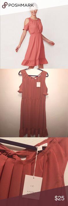 Lauren Conrad Cedar Color Pleated Dress Lauren Conrad Cedar Color Pleated Dress LC Lauren Conrad Dresses