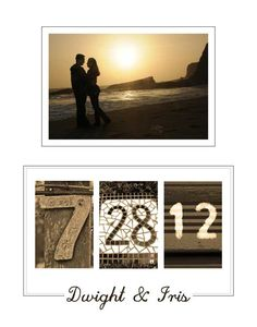 Personalized Wedding Date Printable Wall Art DIY  - Engagement, Wedding, Valentines or Anniversary Gift. $10.00, via Etsy.