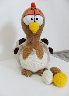 Crochet Easter Chicken.