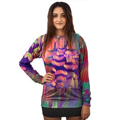 Mushroom Trip Sweatshirt This item is made with an extremely soft garment using HD Photographic Printing Technology. The fine mixture of polyester and cotton allow us to print high definition images and create unique, fresh and innovative products.