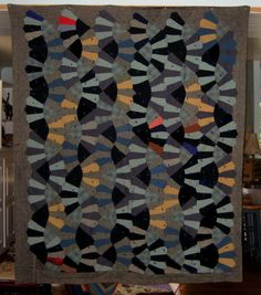 African American Snails Trails Quilt, 1940s, New Jersey.