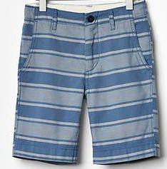 Stripe flat front shorts from Gap Kids. #boysfashion #springfashion
