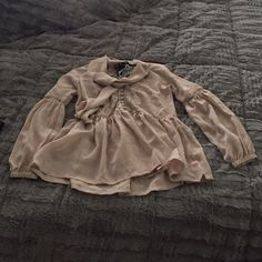 Ethereal Shirt Gorgeous flowing shear chiffon shirt. Beautiful lace and covered button details. Great with leggings or jeans! Tops