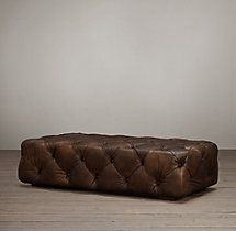 Soho Tufted Leather Ottoman - can't wait to receive it!