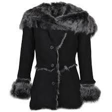 Ladies Ashwood Toscana Longhaired Shearling Jacket With Large Hood Black : Muna Sheepskin Jacket, Leather Company, Shearling Jacket, Ootd Fashion, Long Hair Styles, Lady, How To Wear, Jackets, Fur