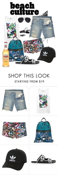 """""""Beach culture!"""" by eloy-exclisively on Polyvore featuring Denim & Supply by Ralph Lauren, Young & Reckless, Lygia & Nanny, Kenzo, adidas Originals, Pantone Universe, Bally, Bellini, men's fashion and menswear"""