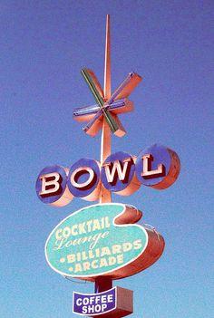 bowl - vintage signage