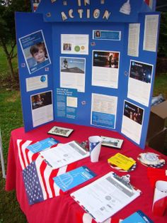A close up look at the Advocacy in Action poster board and table display!