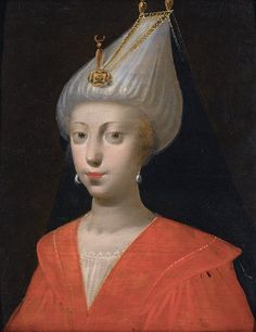 "Continental school - A Sultana, century / Sotheby's, ""An eye for opulence and art of the Ottoman Empire"" [***] Historical Art, Historical Clothing, Empire Ottoman, Islam, Turkish Art, Hat Hairstyles, Black Sea, French Artists, 17th Century"