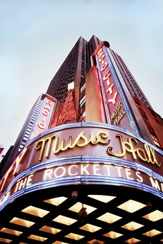 radio city, home of the rockettes.