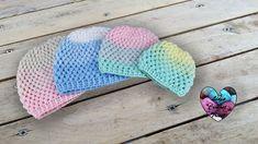 Bonnets dégradé point puff 4 tailles crochet Bonnet Crochet, Crochet Diy, Crochet Beanie, Crochet Hats, Youtube Crochet, Lidia Crochet Tricot, Crochet Slippers, Knitting, Bonnets