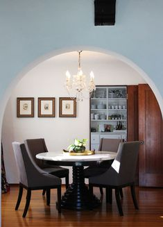 Love The High Low With Gorgeous Table And West Elm Chairs Round Doorway Dining