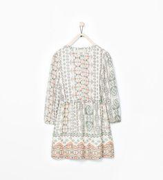 BOW DETAIL DRAPEY DRESS, Zara