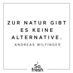 There is no alternative to nature! Did he say nicely, Andreas Wilfinger … - Gesundes Leben Green Quotes, Stress, Motivation, Wise Words, Natural Remedies, Best Quotes, Affirmations, Alternative, Self
