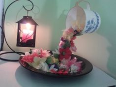 Centro de Mesa Copas con Flores Sumergidas y Velas Flotantes y sin Agua - YouTube