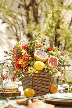Sombra, flores e frutas frescas - Vamos Receber