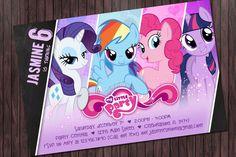 My little pony #2 Birthday Printable Party invitation - Custom DIY