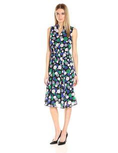 Anne Klein Womens Dresses 10634306 Bubble Printed Georgette- Choose Sz/Color.