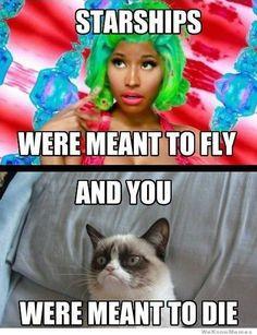 Grumpy Cat vs Nicki Minaj