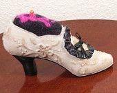 Victorian Miniature Shoe Pincushion