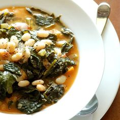 Food: Eleven Delicious Sunday Suppers  (via Savory Kale, Cannellini Bean, and Potato Soup)